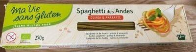 Spaghetti des Andes Quinoa Amarante - Produit - fr