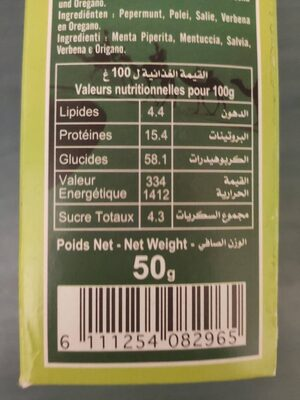 Herbal tea - Nutrition facts - es