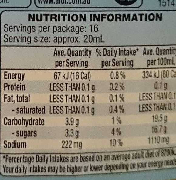 French Salad Dressing - Fat Free - Nutrition facts