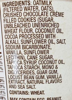 planet oat - Ingredients