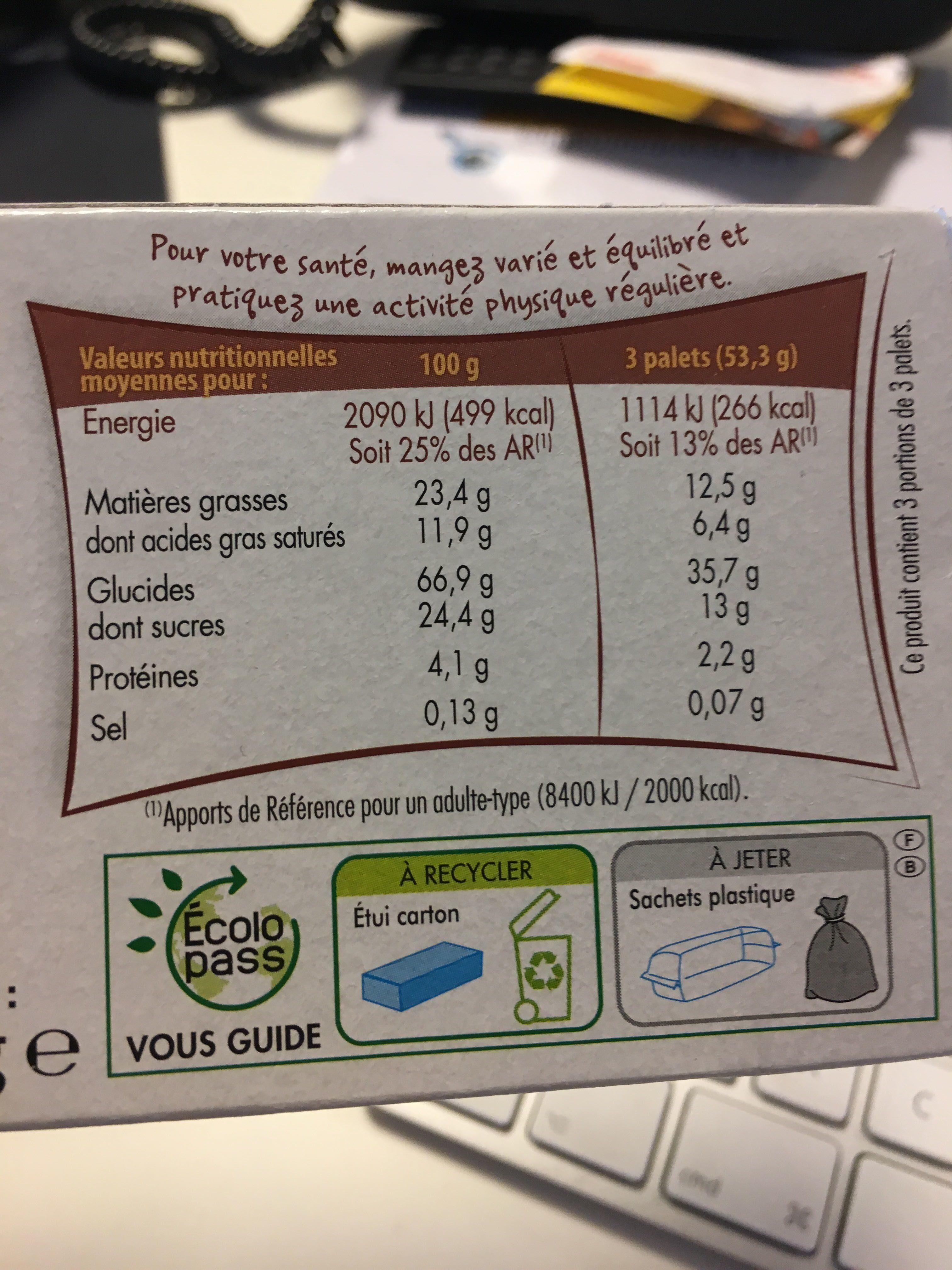 Muesli Cookies sans gluten - Informació nutricional