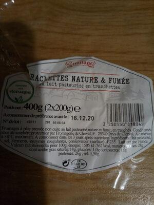 RACLETTES NATURE & FUMÉE - Ingrédients - fr
