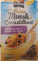 muesli croustillant myrtilles baies de goji - Product - fr