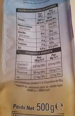 muesli croustillant myrtilles baies de goji - Nutrition facts - fr