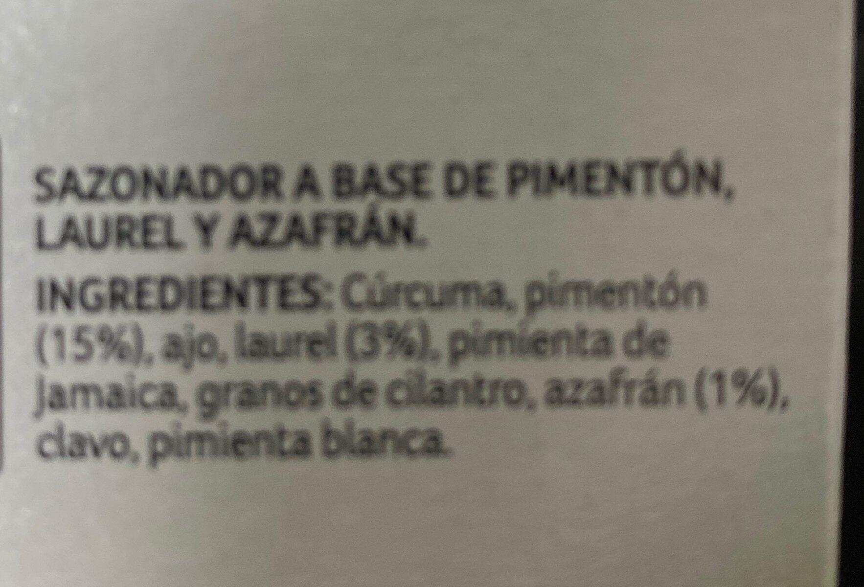 Sazonador paella valenciana - Nutrition facts - en