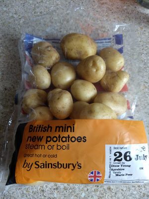 British mini new potatoes by Sainsbury's - Product - en