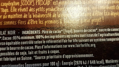 95% togo - Ingredients - fr