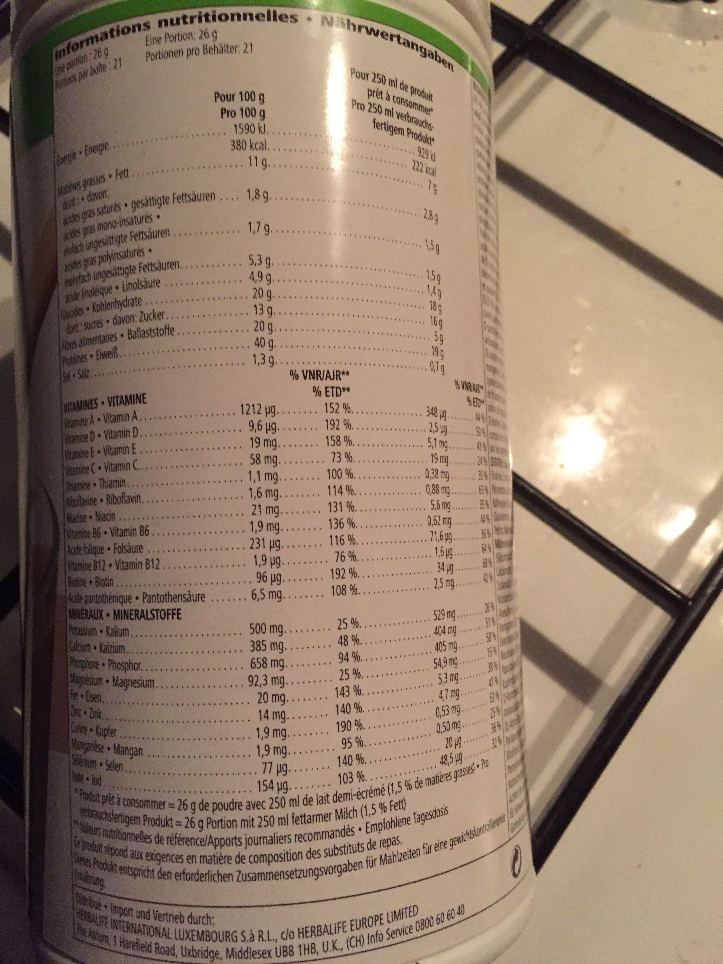 Formula 1 healthy meal - Produit - fr