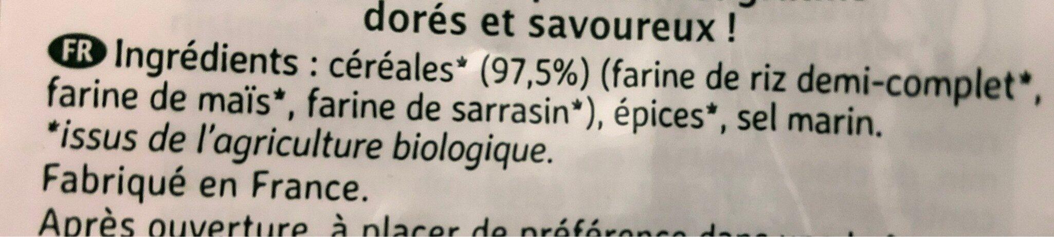 Chapelure aux 5 céréales - Ingredients - fr