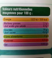 Spaghetti de riz brun - Informations nutritionnelles - fr