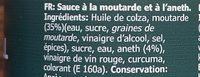 Sås senap & dill - Ingredienti - fr