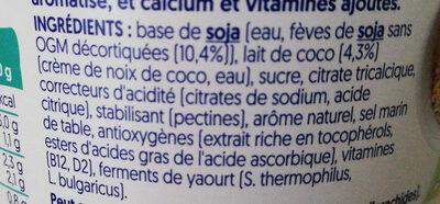 Nature à la Noix de coco - Ingredients - fr