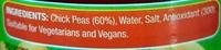 Chick Peas - Ingrédients - en
