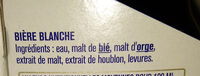 Edelweiss l'originale blanche aux saveurs douces et fruitées des Alpes - Ingredienti - fr