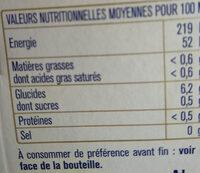 Edelweiss l'originale blanche aux saveurs douces et fruitées des Alpes - Valori nutrizionali - fr