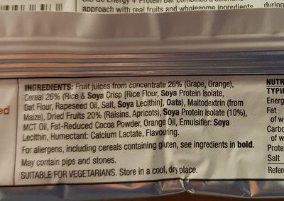 GO Energy protein bar - Ingredients - en