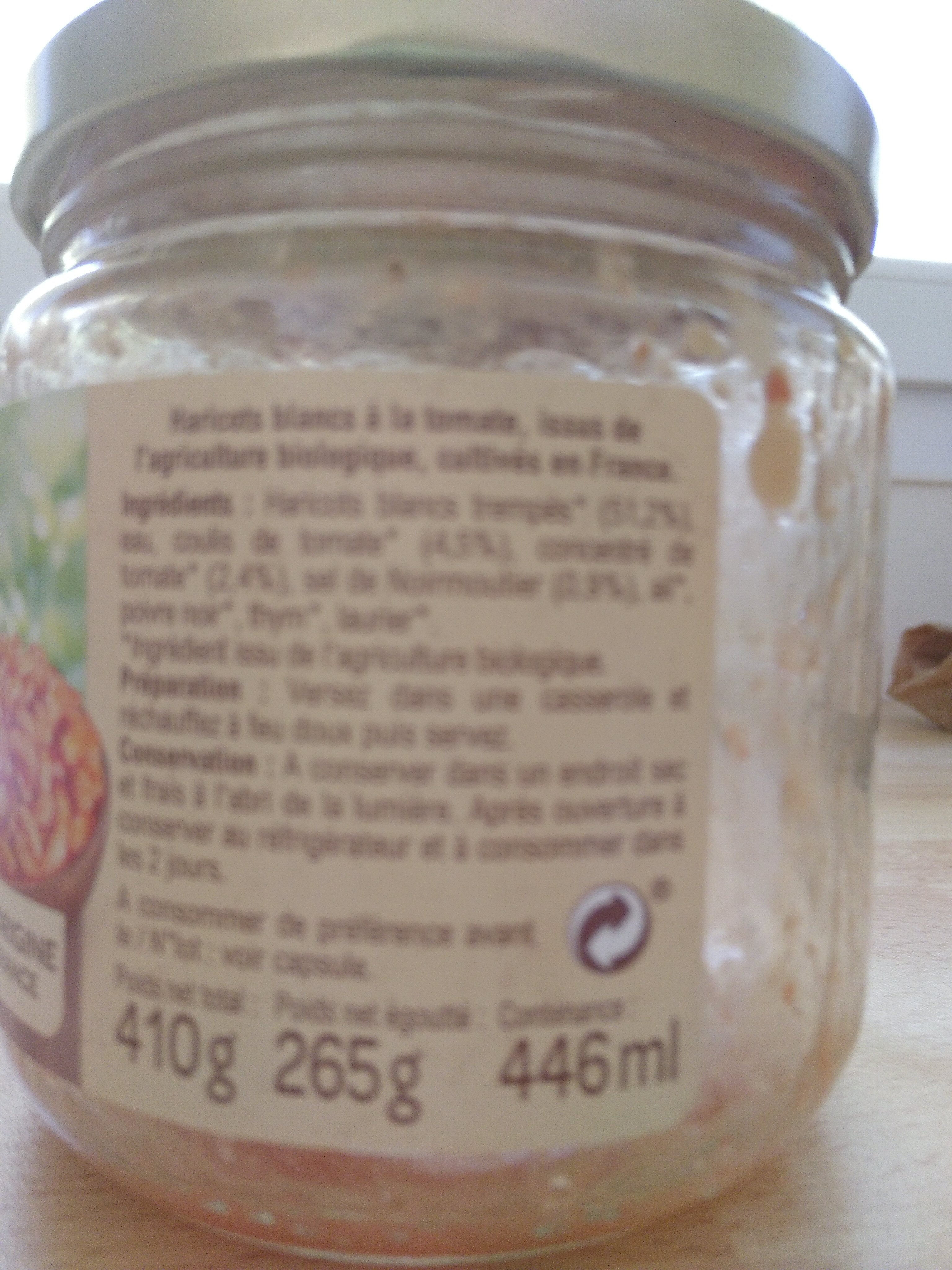 Haricots blancs à la tomate - Ingredienti - fr