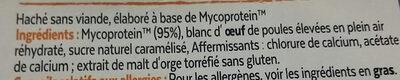 Haché végétarien - Ingredients - fr
