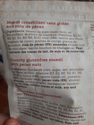 muselière croustillant les Granolas - Ingredients - fr