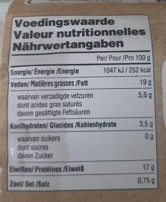 Steak végétal - Valori nutrizionali - fr