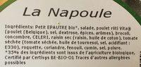 Salade napoule - Ingrediënten