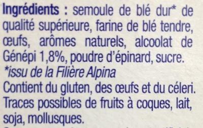 Les Crozets, Génépi - Ingredients