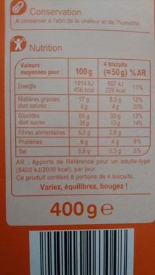 Compote pomme vanille - Voedingswaarden - fr