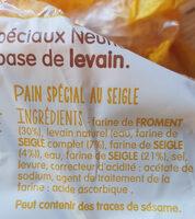 pain spécial au levain seigle - Ingredients - fr