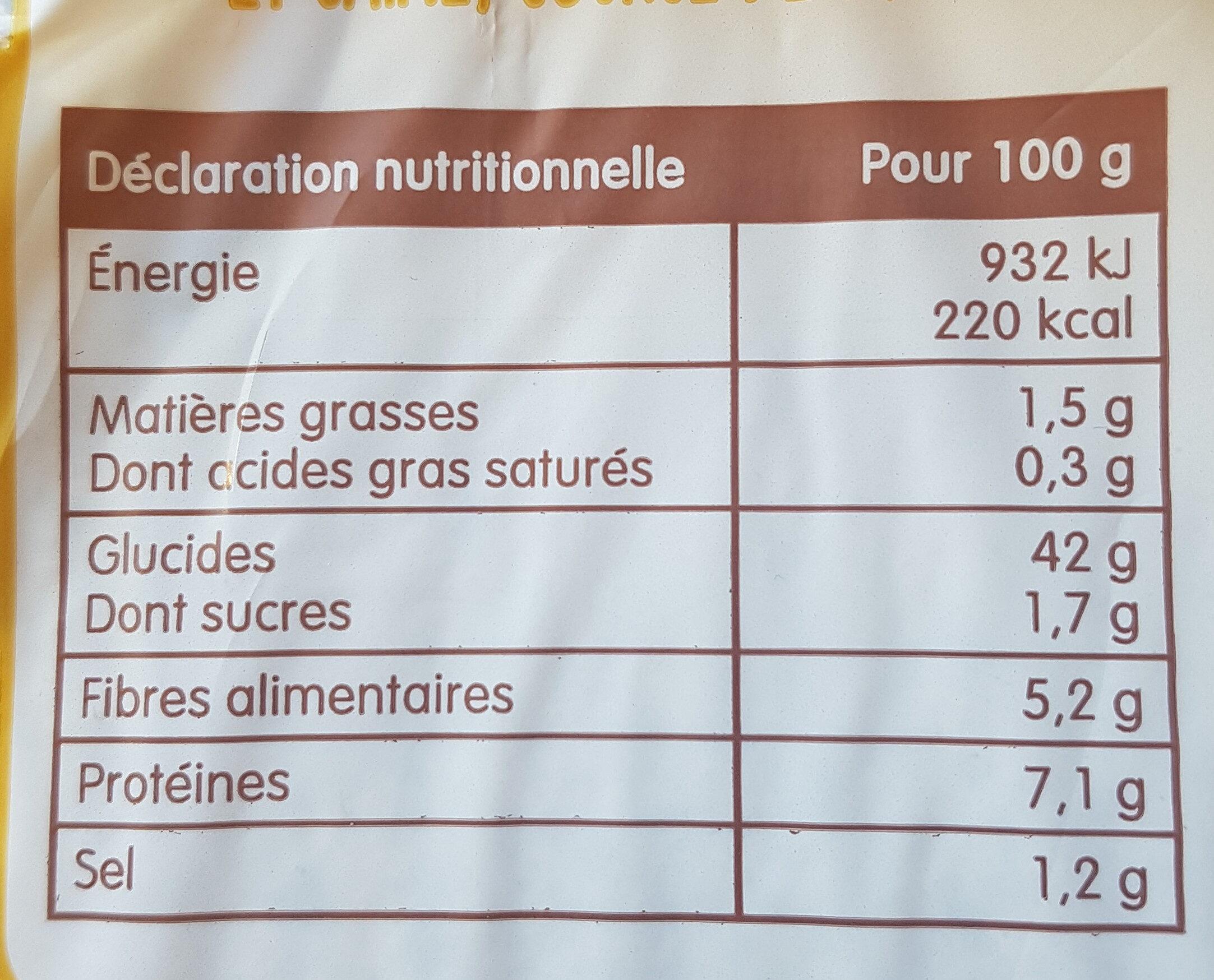 pain spécial au levain seigle - Nutrition facts - fr