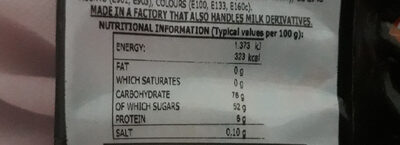 galaxy mix - Nutrition facts