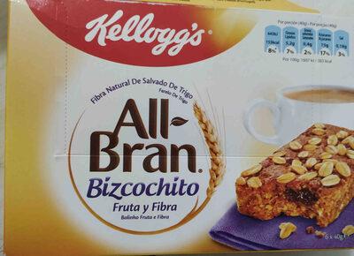 All-Bran. Bizcochito Fruta y Fibra - Product