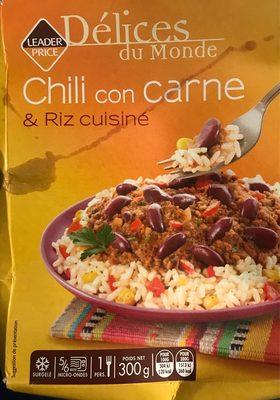 chili con carne et riz cuisiné - leader price - 300 g