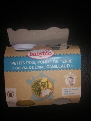 petits pois, pomme de terre du Val de Loire, cabillaud - Product