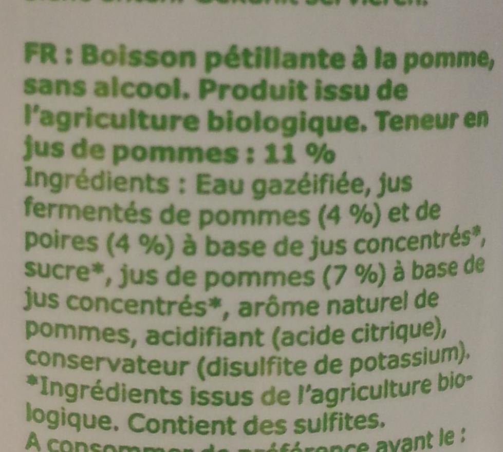 Kolsyrad Äppeldryck - Ingredients