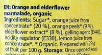 Marmelad Apelsin & Fläder - Ingredienti - en