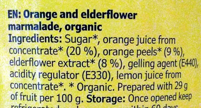 Marmelad Apelsin & Fläder - Ingredients
