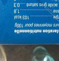 Crevettes Entières Cuites Congelées - Informations nutritionnelles
