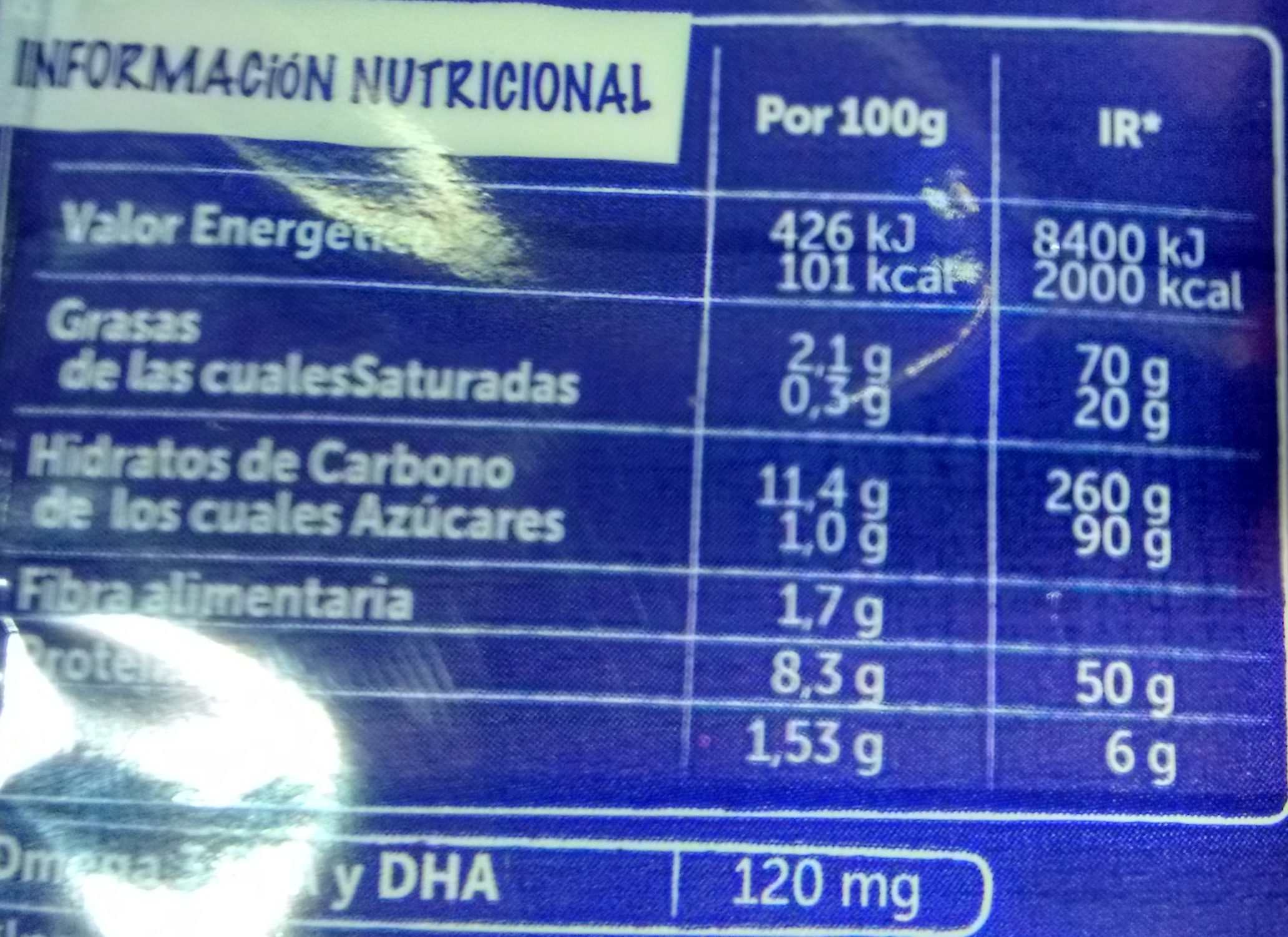 Palitos de Surimi - Informació nutricional