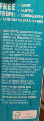 original silk coconut milk - Ingredients - en
