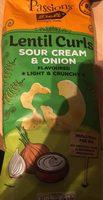 Lentils curls sour cream & onion - Produit