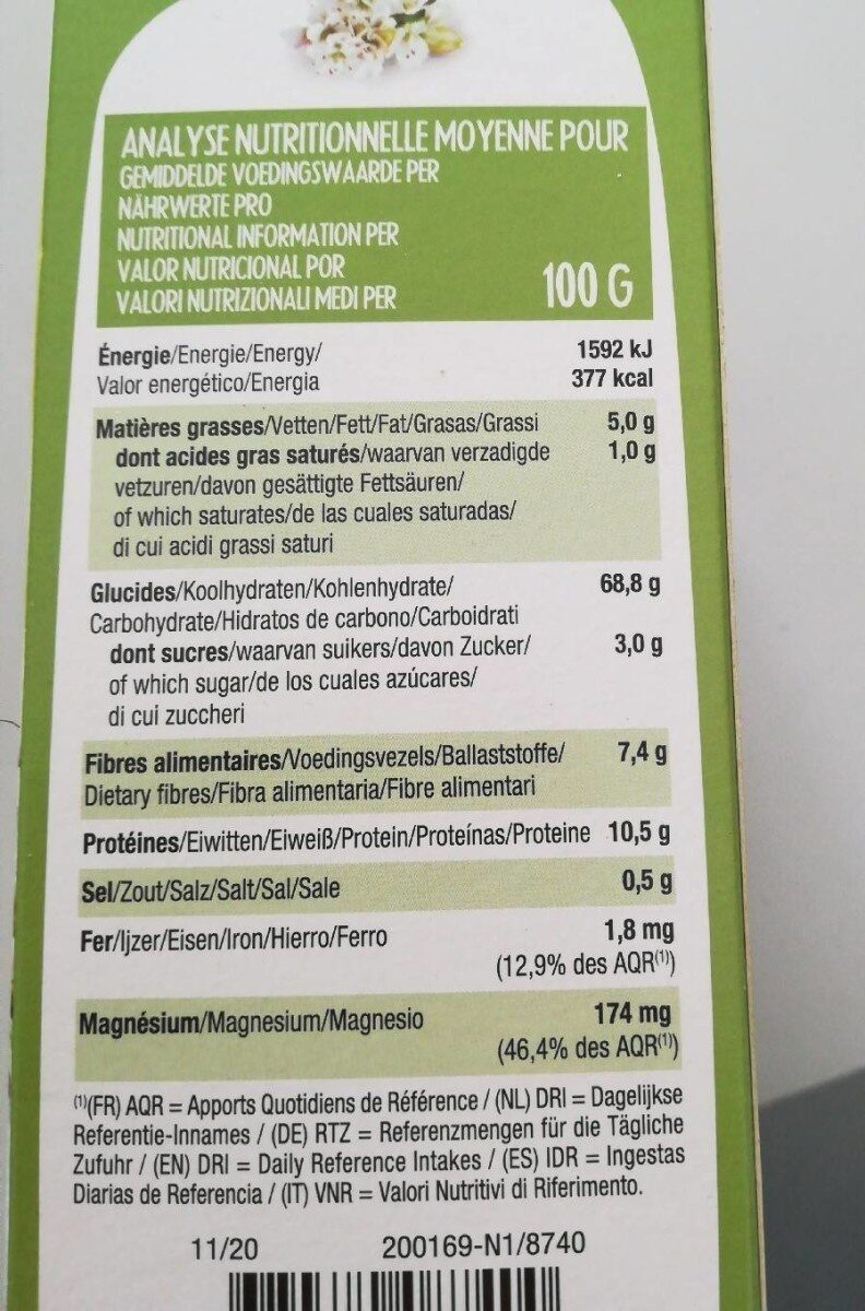 Special matin - Valori nutrizionali - fr