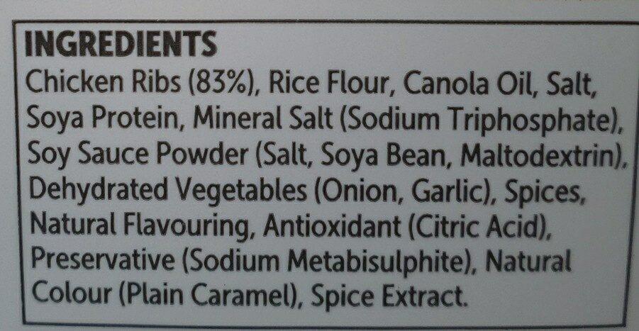 crumbed chicken ribs - Ingredients - en
