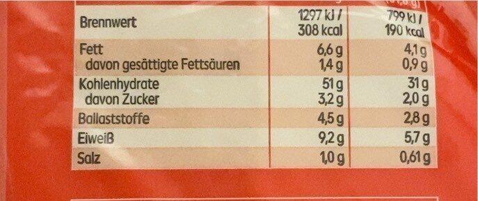 Weizen Tortilla Wraps - Valori nutrizionali - de