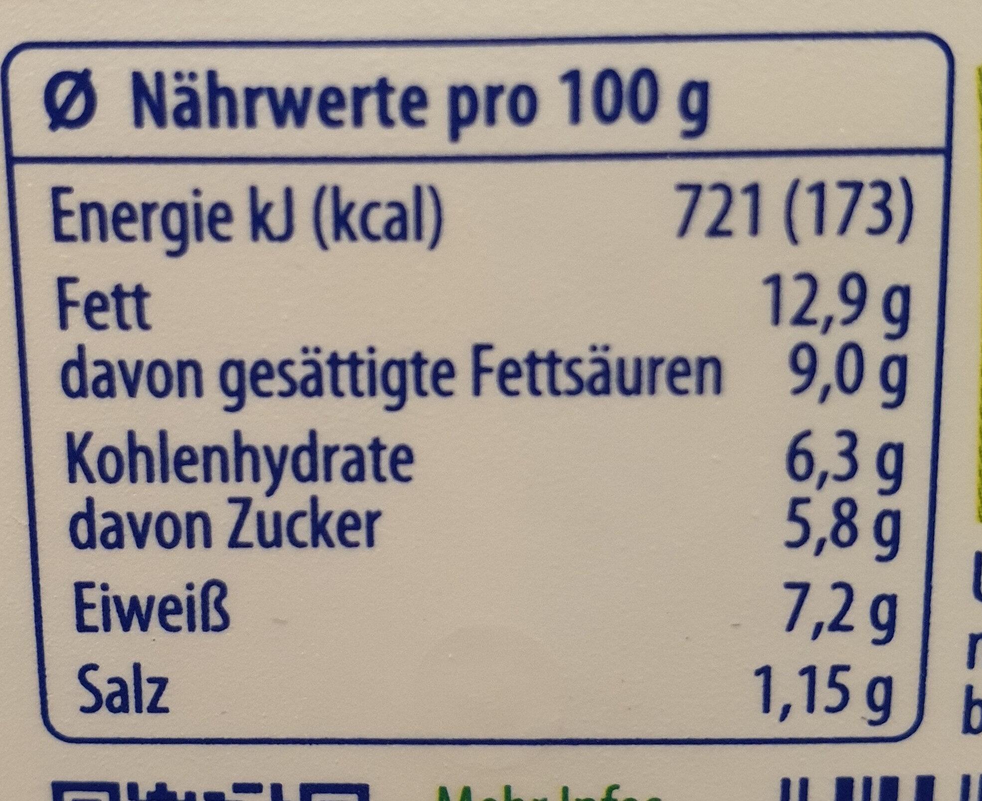 Exquisa Creation Kirsch-Paprika - Nutrition facts