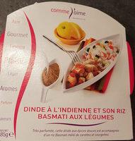 Dinde à l'Indienne et son Riz Basmati aux Légumes - Produit - fr