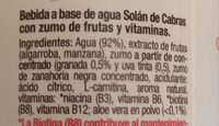 solano de cabras repair - Ingredients - es