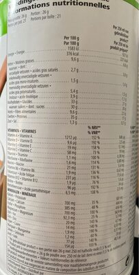 HERBALIFE boisson nutritionnelle - Nutrition facts - fr