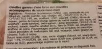 rouleaux de printemps crevettes - Ingredients - fr