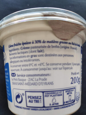 Crème fraiche au lait de brebis - Product