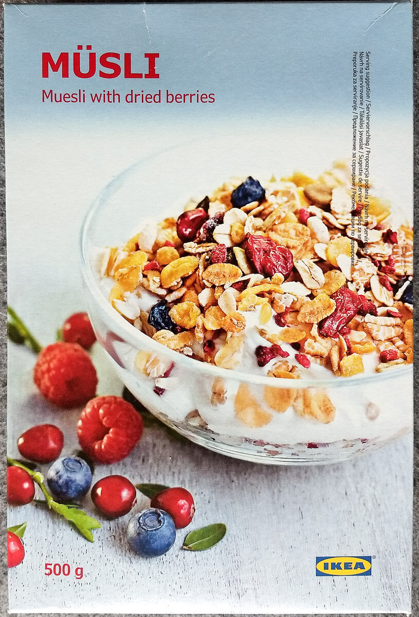 Müsli (Muesli with dried berries) - Producte